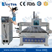 ACCTEK  8 tool changer 9KW air cooling cnc router with atc spindle /servo motors/vacuum table