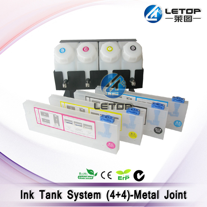Excellent Quality!!Eco printer ciss ink tank system 4 ink cartridge and 4 ink tank(with metal joint) цена
