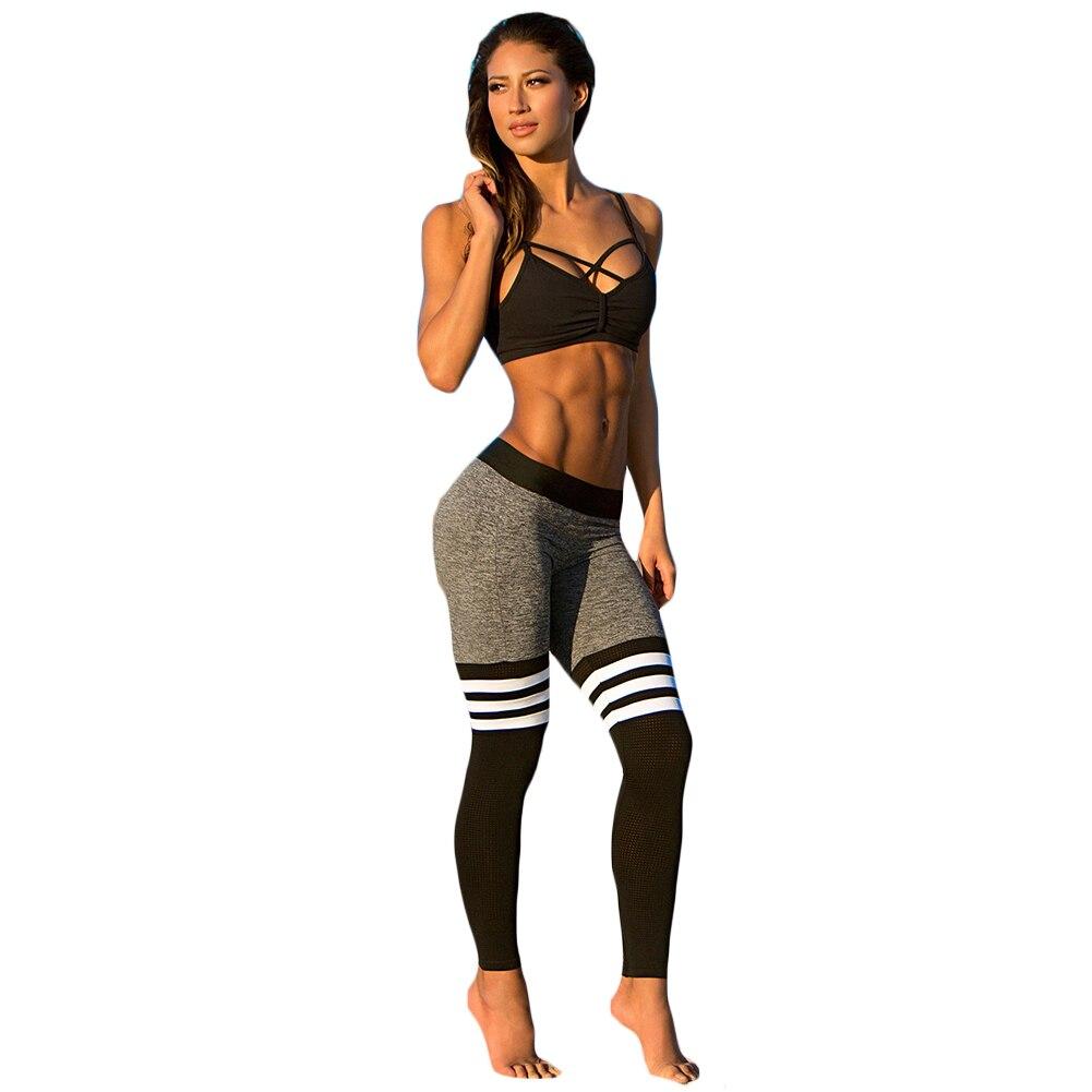 Acheter en ligne en gros pantalon rayé noir blanc-7825