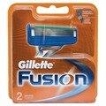 Substituível lâminas de barbear para homens de barbear de fusão gillette lâmina de barbear 2 pcs cassetes cartucho de barbear de fusão fusão