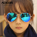 KDEAM Бренд Пилот Детские Солнцезащитные Очки UV400 Покрытия Солнцезащитные Очки Камуфляж Рамка Goggle Детские Мальчики Девочки Солнцезащитные Очки óculos С Коробкой