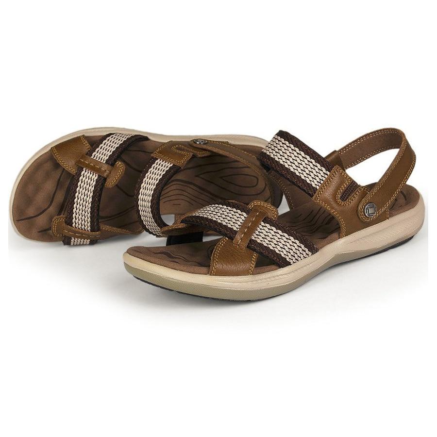 2016 European and American high grade leather font b sandals b font sport font b sandals