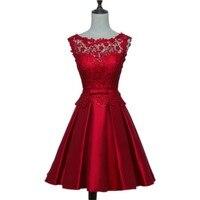 Как на фото короткие платья для выпускного вечера 2019 Новые мини платья на выпускной вечер дешевая атласная красное вино Формальное вечерне