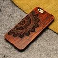 2016 venta caliente retro naturaleza wood case para apple iphone 5 5s cubierta de cajas de madera en stock