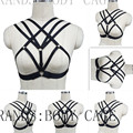 Goth Harness Bondage Lingerie cage bra Crop Top Frame Harajuku Garter Sexy body harness Fetish Burlesque Erotic Pin-Up Lingerie