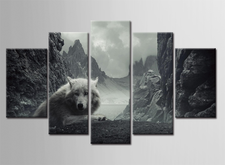 wall pictures for living room cuadros nordic decoration dog hill new wall art canvas painting cuadros picture poster frame 17011