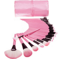 Woman S Pink 32 Pcs Make Up Tools Pincel Maquiagem Professional Superior Soft Cosmetic Makeup Brush