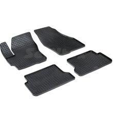 Резиновые коврики для Mazda 3 BK (2003-2009) с рисунком Сетка (Seintex 00193)