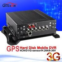 Бесплатная доставка 3 г GPS Full d1car DVR может удаленного доступа 4ch H.264 черный ящик видеорегистратор Автомобильный видеорегистратор с монитор в р...
