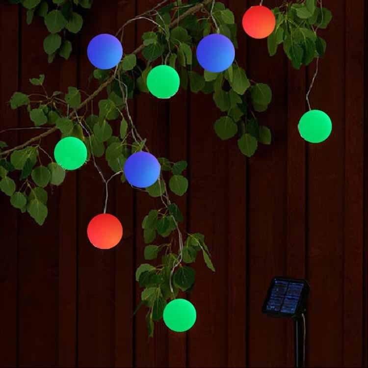 5M 5V LED String Solar Light 20 Balls Fairy Light Garden Ball Rope Lamp Outdoor Wedding Lantern Home decoration