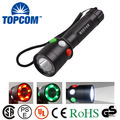 Hot Sell High Quality 5W Powerful Work Rechargeable Flashlight Torch Lantern Wanring For Railway,Outdoor,Camping