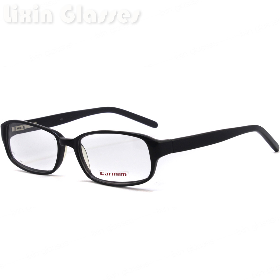 ③New High Quality Men Acetate Spring Hinge Black clean lens Glasses ...