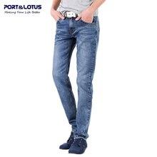 Порт и лотоса мода свободного покроя джинсы новое поступление с молнией летать сплошной цвет Midweight прямые брюки slim-подходят мужчины Jeans035 оптовая продажа