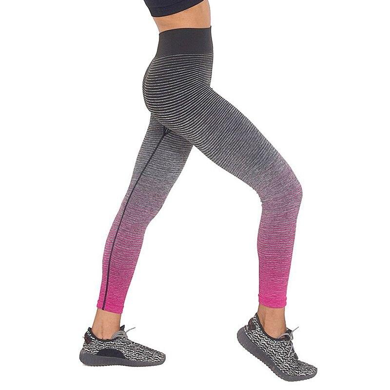 Prix pour Lasperal yoga pantalon femmes taille haute bande motif maigre courir sport leggings respirant étiré recadrée gym fintess collants