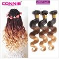 7A Ombre Brazilian Virgin Hair Body Wave 3 Bundles Human Hair Weave 1B/4/27 Ombre Brazilian Hair Bundles Weave Hair Extension