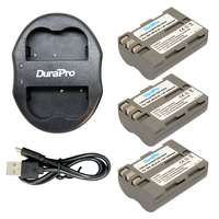 Durapro 3 Pcs Lot EN EL3E EN EL3e ENEL3E EN EL3E Batteries Dual USB Charger For