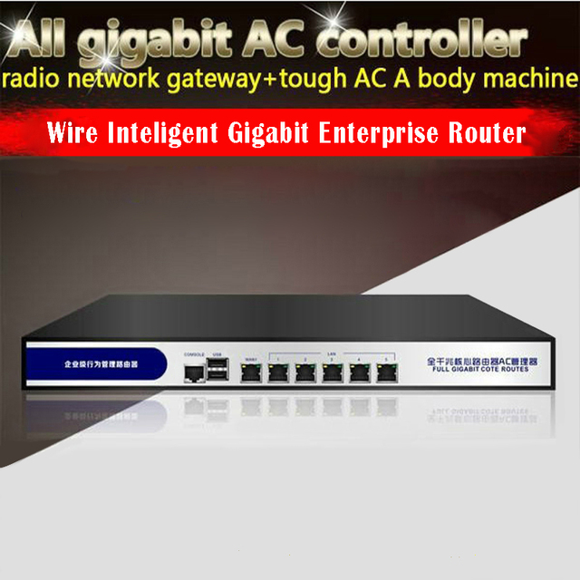 US $248 0 |Rack Firewall Mikrotik load balancer Intel D525 Ros System Base  On Linux Routeros 6 Rj45 Gigabit Lan With 2 Usb Ports Enterprise-in