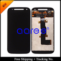 Shipping + Tracking No. original del 100% prueba para Motorola E2 XT1505 XT1511 XT1524 Moto E 1 LCD digitalizador asamblea negro / blanco