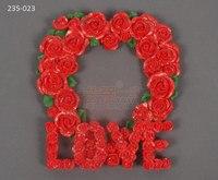 235-023 Wedding TÌNH YÊU hoa hồng hình trái tim khung ảnh nghệ thuật đường khuôn bánh fondant khuôn silicone khuôn clay khuôn