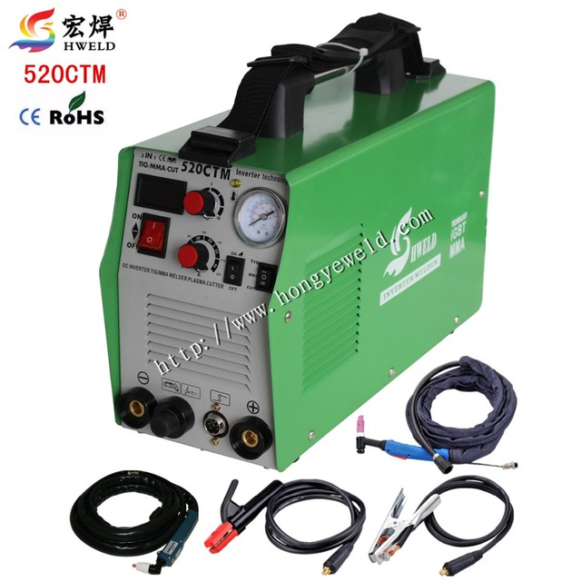 3 in 1 Tig Welder Inverter Weld 520CTM Welding Machine TIG MMA CUTTER Arc Welder Portable Welding Machine 220V