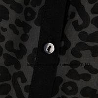 оптовая продажа, мода леопарда печатных шифон рубашки для женщин, лето с длинным рукавом широкий блузка 063, СМЛ бесплатная доставка