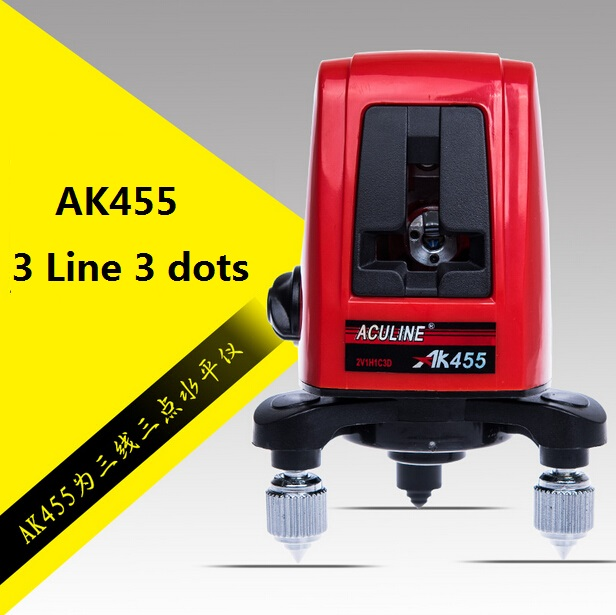 XEAST AK45 laser level 360degree Self- leveling Cross Laser Level Red 3 Line 3 dots  цены