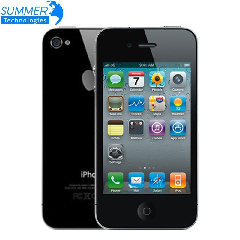 Original Unlocked Apple iPhone 4 Cell Phones IOS GPS WIFI 3.5 inch IPS Screen 8GB/16GB/32G Used Phone