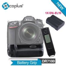 Mcoplus BG-DR7100 Vertical Battery Grip + EN-EL15 Battery for Nikon DSLR D7100 Camera Built-in 2.4G Wireless Remote Control