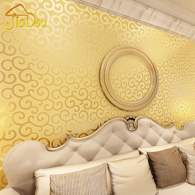 Classical Gold Foil Wall Paper Clouds Pattern Golden Wallpaper Mural Luxury Living Room Hotel Ceiling Decor Wall Covering Paper x 3309 v folded paper dispenser abs plastic wall mounted paper holder home hotel toilet paper box