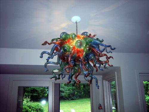 Décoration de plafond contemporaine en verre soufflé à la main