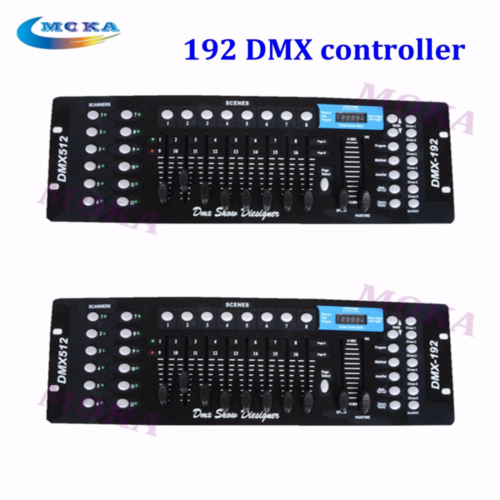 2pcs 192  Channels DMX Disco Console 512 DMX RGB Controller  For Stage Light Night club Party Bar DJ  hot lightme professional stage dj dmx stage light 192 channels dmx512 controller console dj light for disco ktv home party night