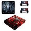 Marvel homem-aranha ps4 slim decalque adesivo de pele para sony ps4 playstation 4 slim console e 2 controladores de adesivos