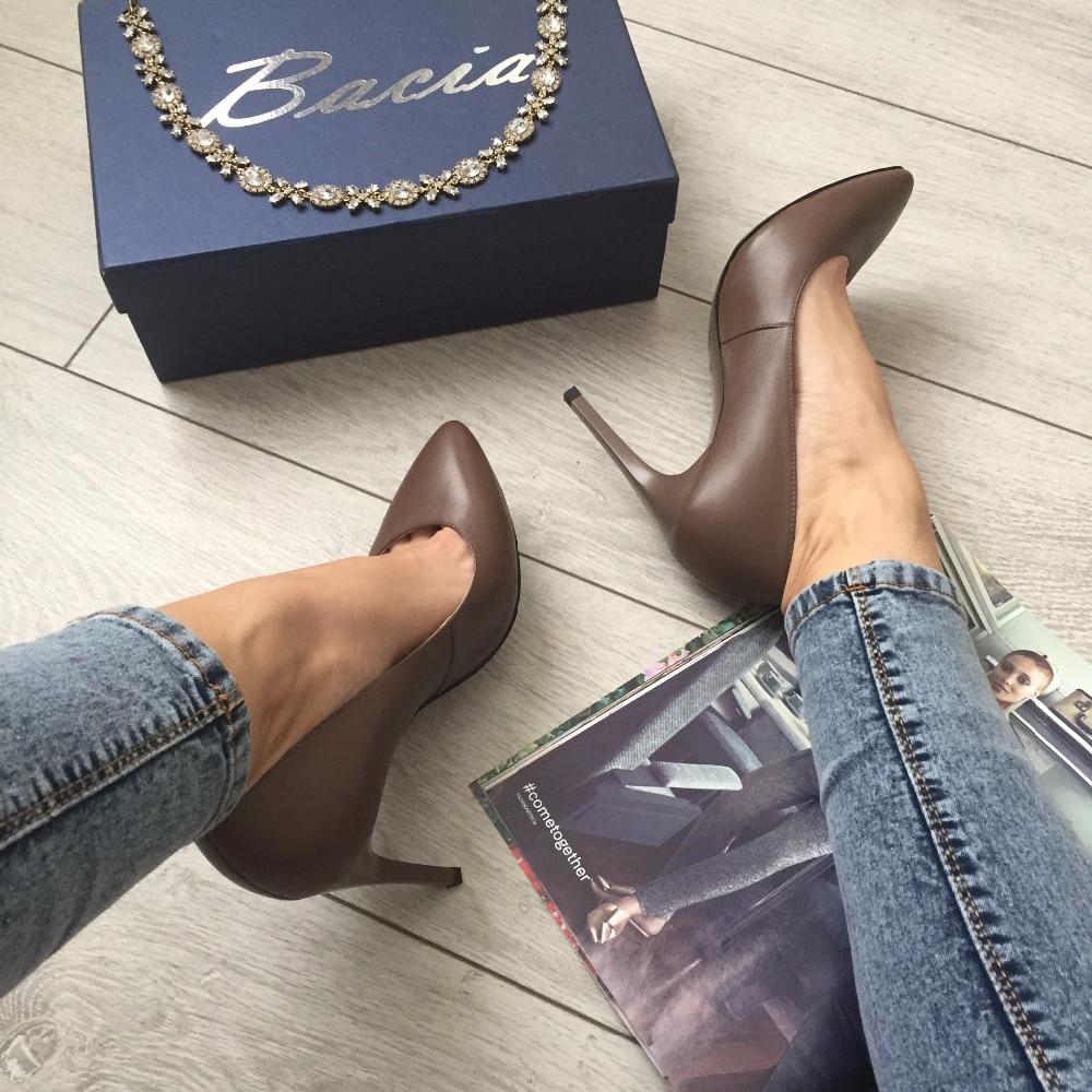 Идеальные кожаные лодочки бренда Bacia с Алиэкспресс