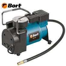 Компрессор автомобильный Bort BLK-255 (Максимальное давление 7 Бар, производительность 25 л/мин, в комплекте сумка и 3 насадки)