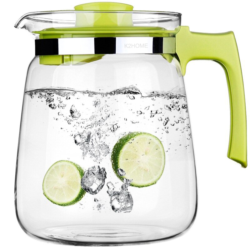 Superior 2000ML Large Teapot Cold Water Kettle Reinforced Glass Pitcher Homeware Cold Juice Water Carafe Pro Handgrip Teapot 2L