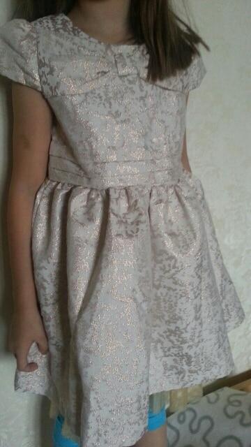 Платье для девочки из парчи с Алиэкспресс