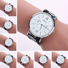 Girls Ethnic Type Braided Woven Band Quartz Spherical Dial Wrist Watch Xmas Reward
