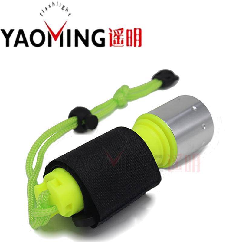 YAOMING niršanas zibspuldzes niršanas gaisma T6 LED 800 lūmena lietošana uzlādējama 18650 baterija zemūdens niršanas zemūdens zemūdens lāpas
