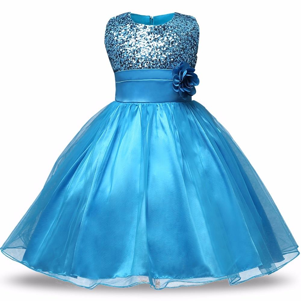 Girls Dresses Children Ball Gown 6 7 8 Birthday Party ...