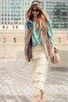 3 возврат красивая богемия бохе искусственной меховой жилет жилет мода женских дамы с жилеты жилеты