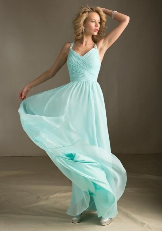 Платье нежно-синего цвета