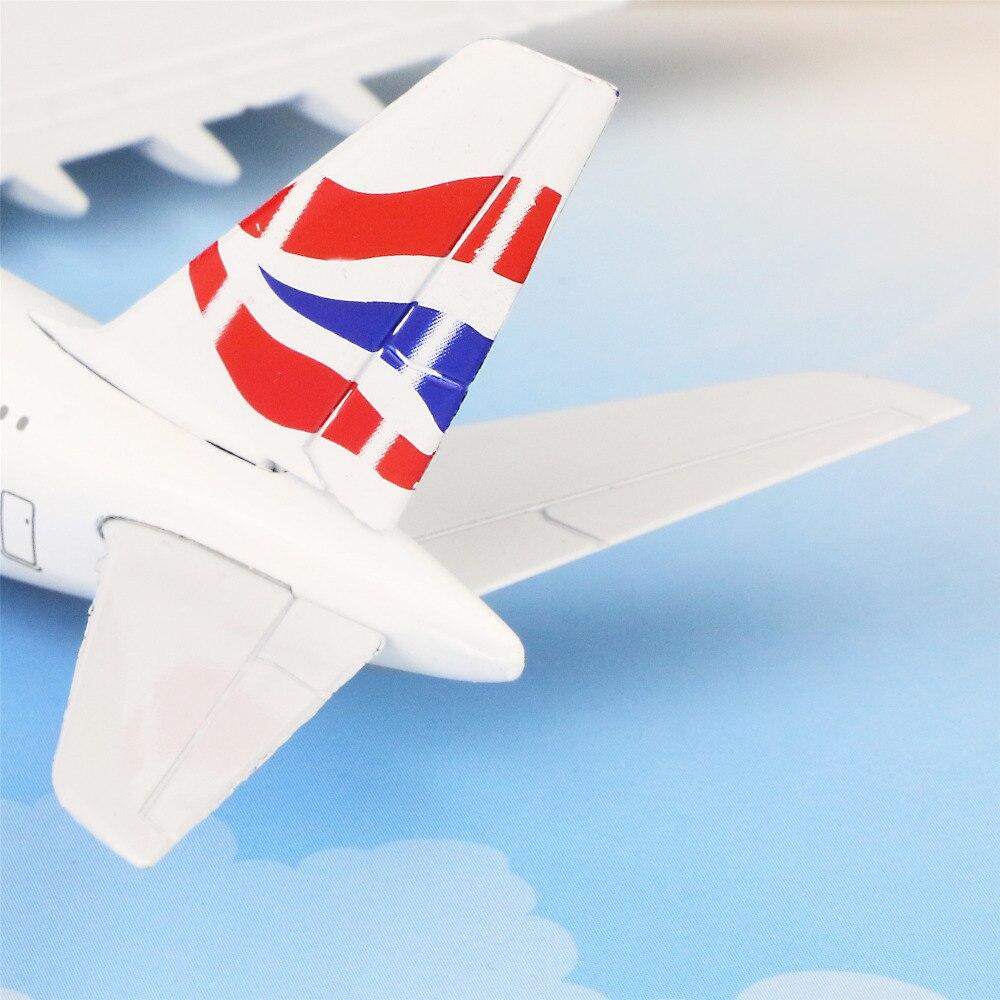 British Airways Airbus380 16cm airplane child Birthday gift plane models toys Free Shipwping Christmas gift
