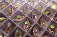 бесплатная доставка срать на кристалл АВ цвет глаз форма блестящий камень 18 * 9 мм 150 шт. высокое качество