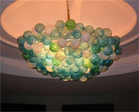 Colorful Glass Balls Hand Blown Glass Wedding Decoration LED Crystal Chandelier New Arrival