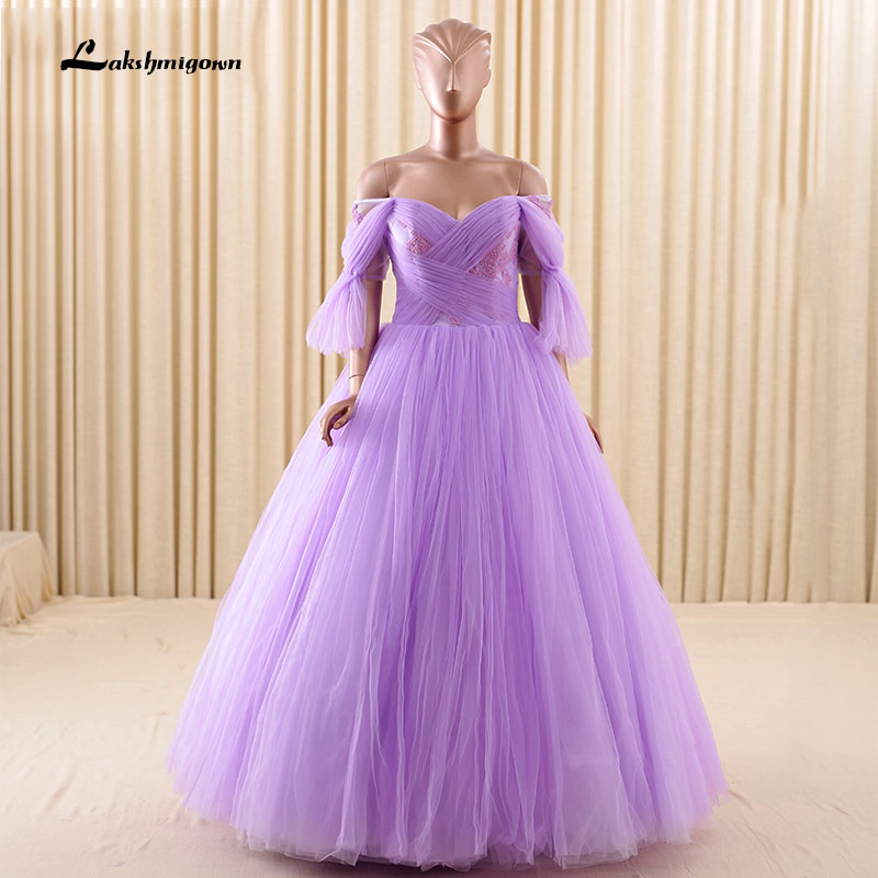 white and purple wedding dresses with sleeve