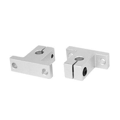 SK8 8mm Shaft Inner Diameter Rail Linear Motion Guide Support Silver Tone 2pcs цена 2017