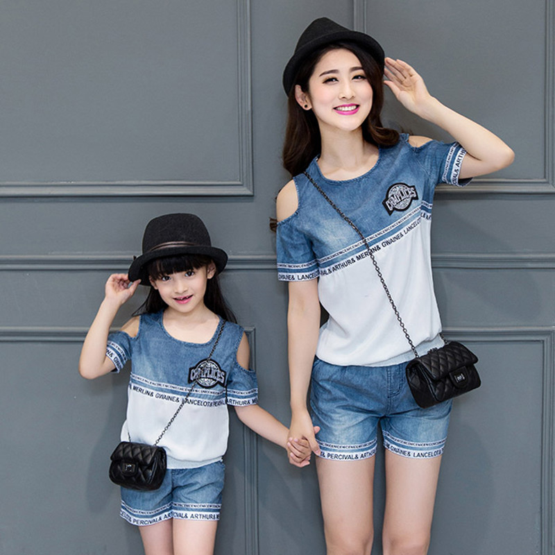 2016 Matching Mother Daughter Clothes Family Look Girl And