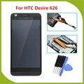 Para htc desire 626 lcd screen display toque digitador assembléia com a substituição do quadro peças + ferramenta gratuita
