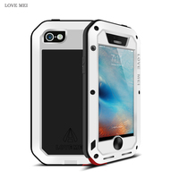 LOVE MEI For iPhone 5 Case Luxury Shockproof Hard Metal Aluminium Silicone Full Body Phone Case for iPhone 5S 5 SE Case Cover