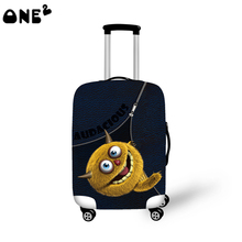 ONE2 stronger elastic neoprene suitcase pattern luggage cover 22,24,26 inch cheap simple colorful suitcase protective cover
